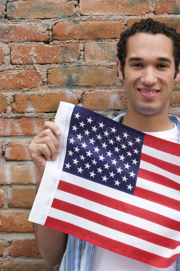 Patriot Man stock photography
