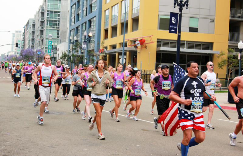 Download Patriot Runners editorial stock photo. Image of handicap - 14617903