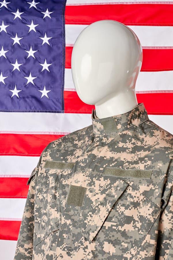 Patriota abstrato do soldado do exército dos EUA no uniforme militar foto de stock royalty free