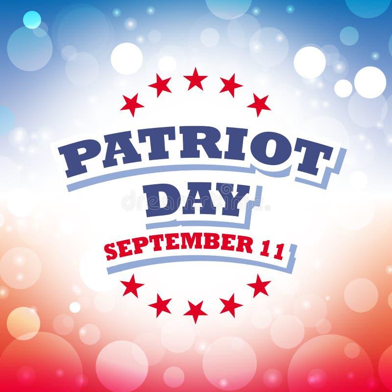Patriota dnia kartka z pozdrowieniami ilustracja wektor