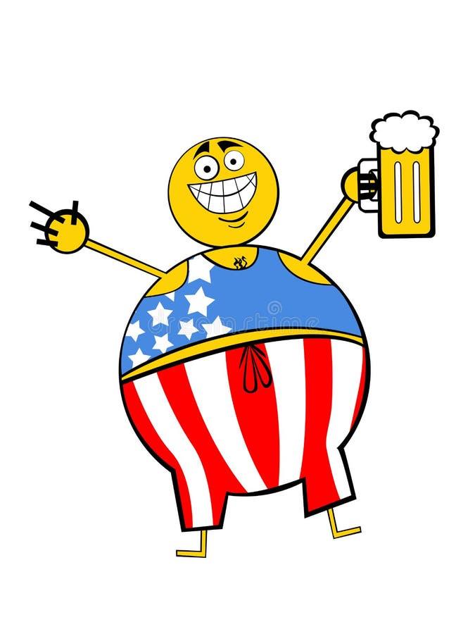 Patriota feliz ilustração royalty free