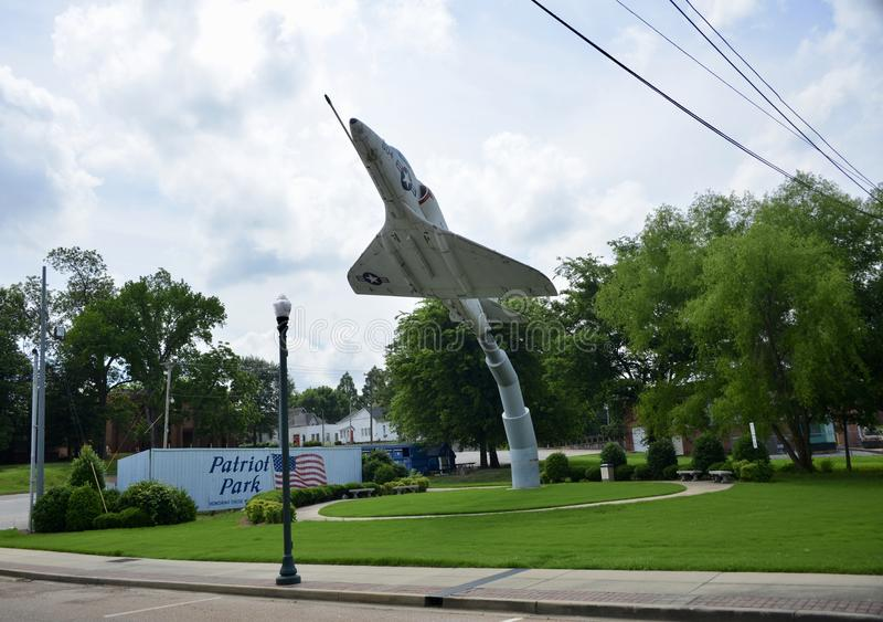 Patriota park, Covington, Tennessee fotografia stock