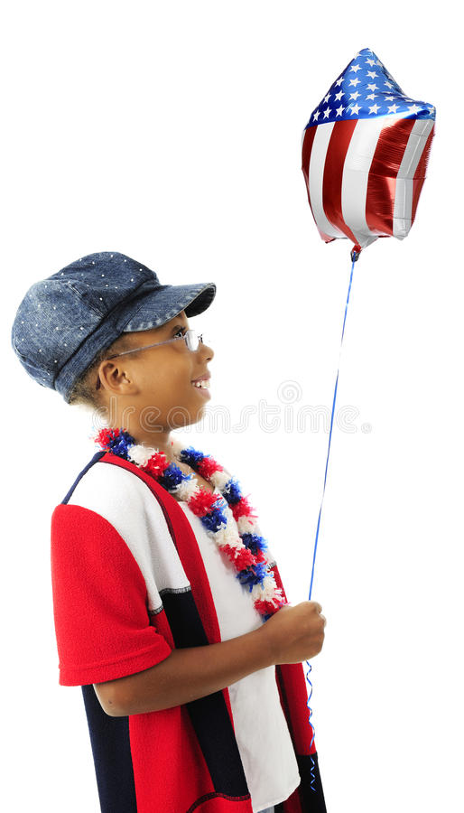 Patriota, soddisfatto del suo pallone immagine stock libera da diritti