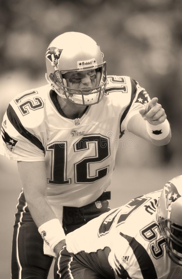 Patriotas de Tom Brady Nova Inglaterra fotos de stock royalty free
