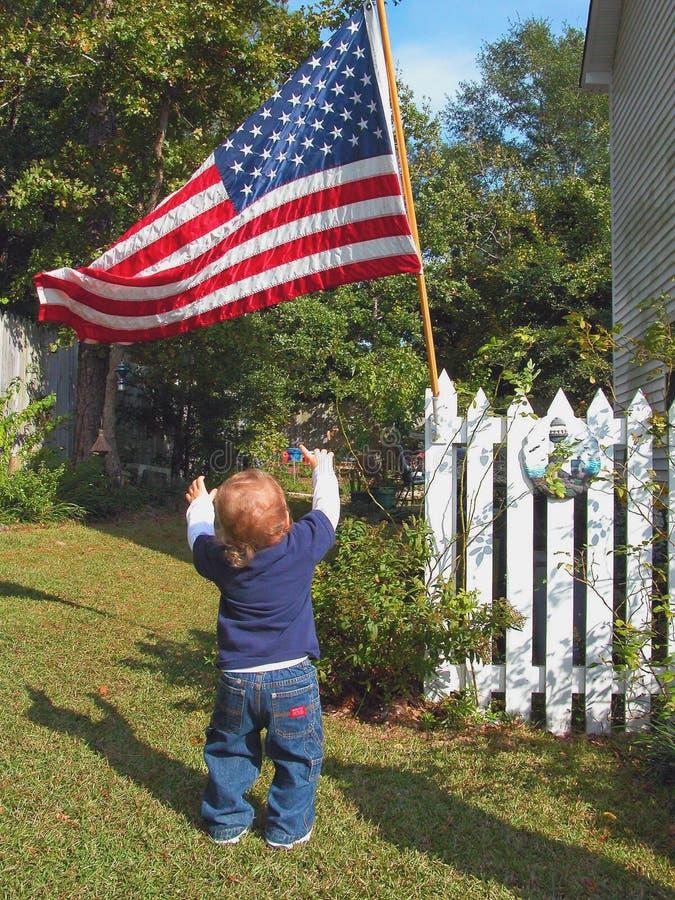 Download Patriotbarn arkivfoto. Bild av ungdom, patriotism, staket - 275304