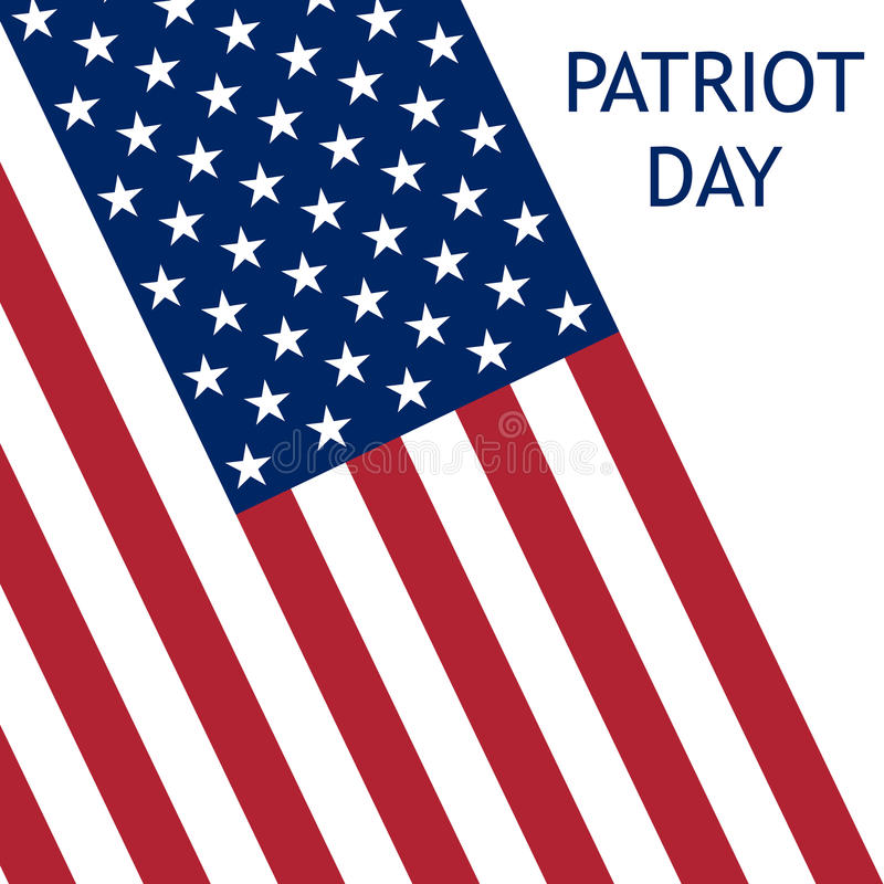 Patriotdag in de Verenigde Staten stock illustratie