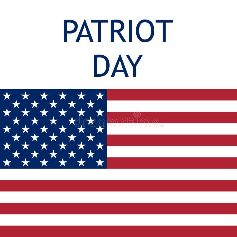Patriotdag in de Verenigde Staten vector illustratie