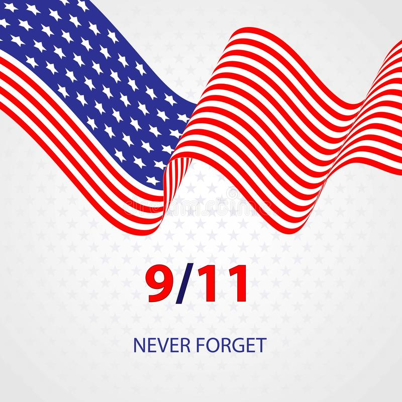 Patriotdagvektor Illustration av U S En flagga för minnesmärkeisolator royaltyfri illustrationer