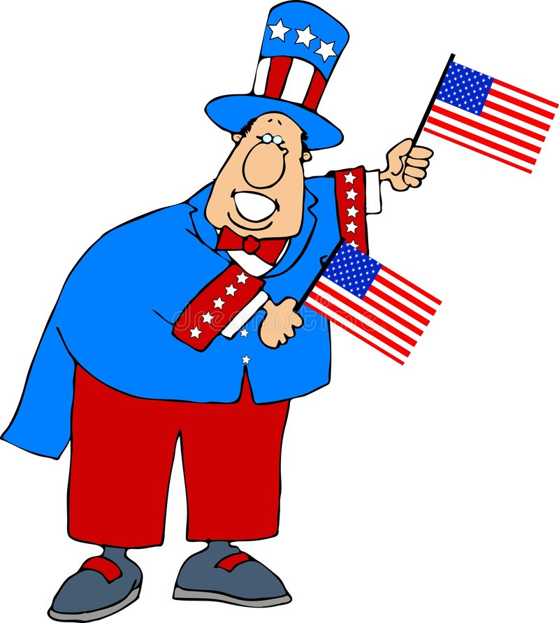 Patriote illustration stock