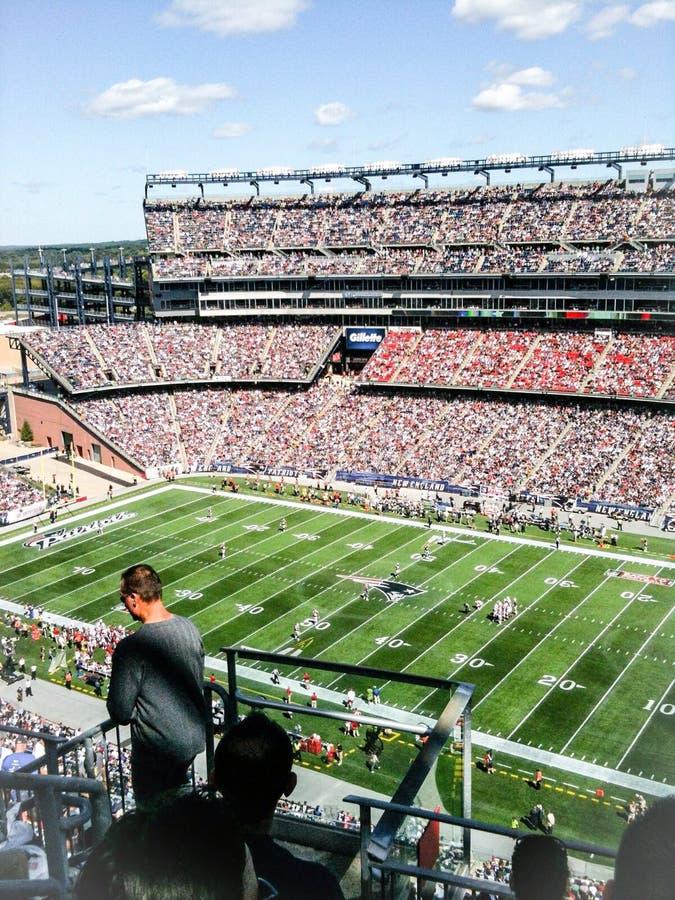 Patriotes contre Giants chez Gillette Stadium image libre de droits