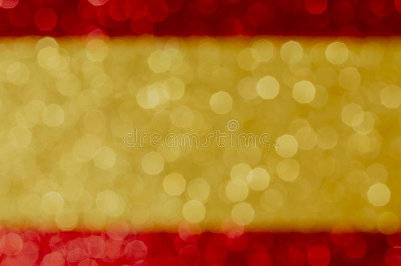 Patriotic abstract background with red yellow red bokeh colors, festive decoration template with defocused glitter effect, christ imagem de stock