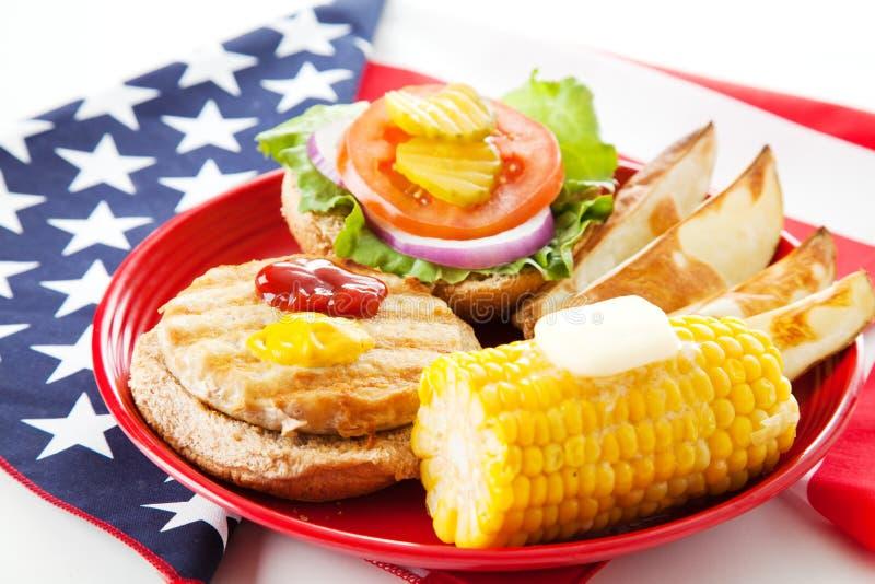 Download Patriotic American Turkey Burger Stock Image - Image: 25519783