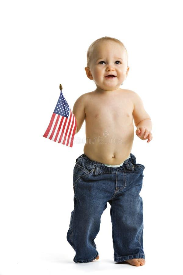 Patriotic Baby stock photo