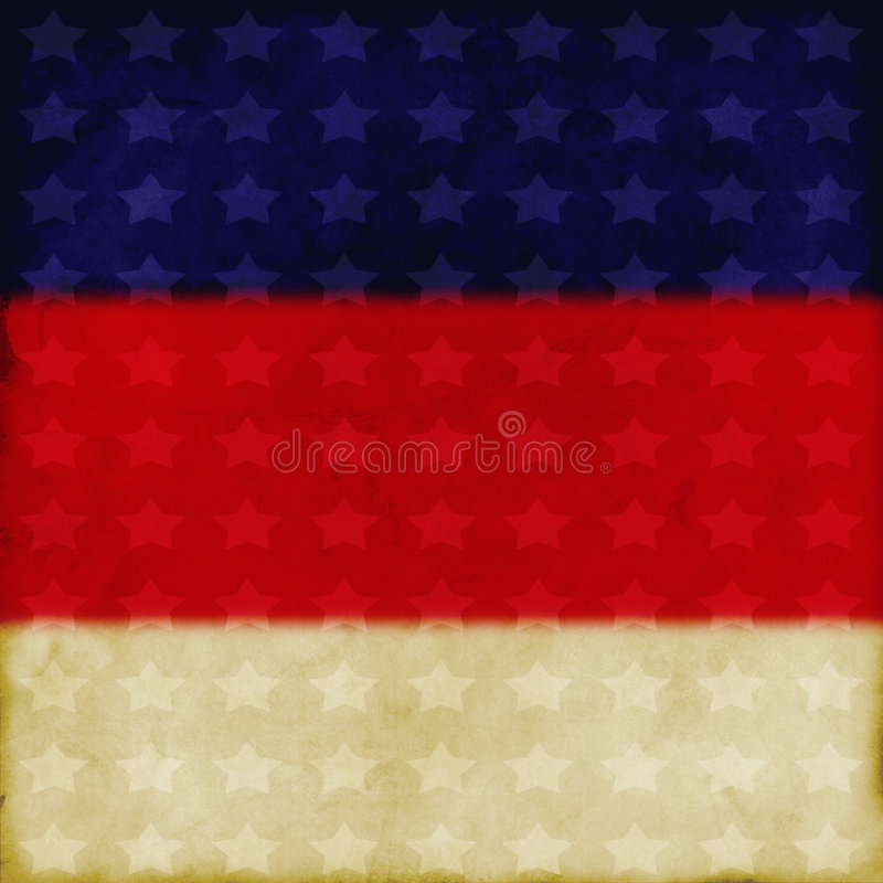 Patriotic background. Discolored/distressed red, white & blue backdrop; excellent detail stock images