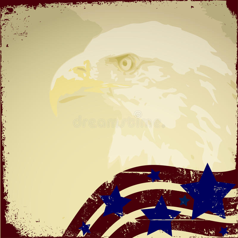Patriotic Background royalty free illustration