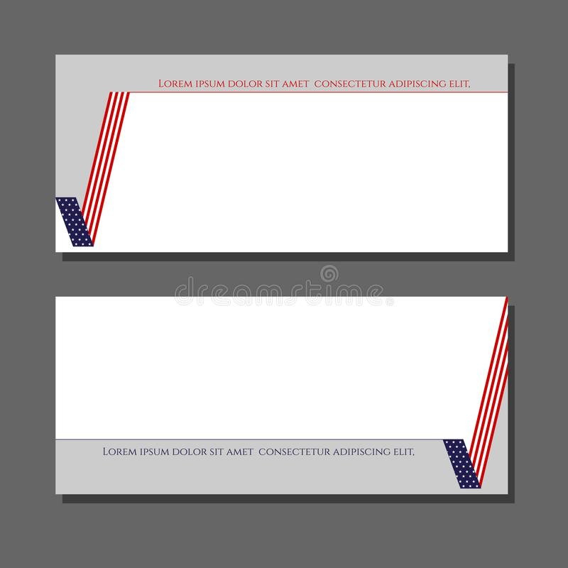 Patriotic background check mark card with American flag Design element for templates layouts cards banners brochures Patriotic royalty free illustration