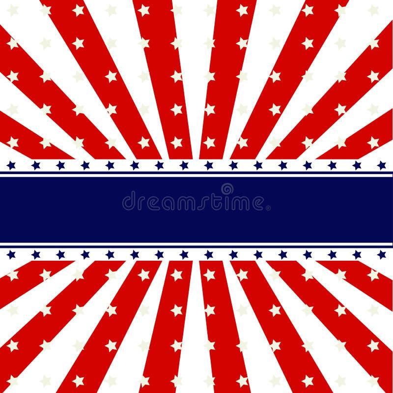Patriotic background design stock illustration