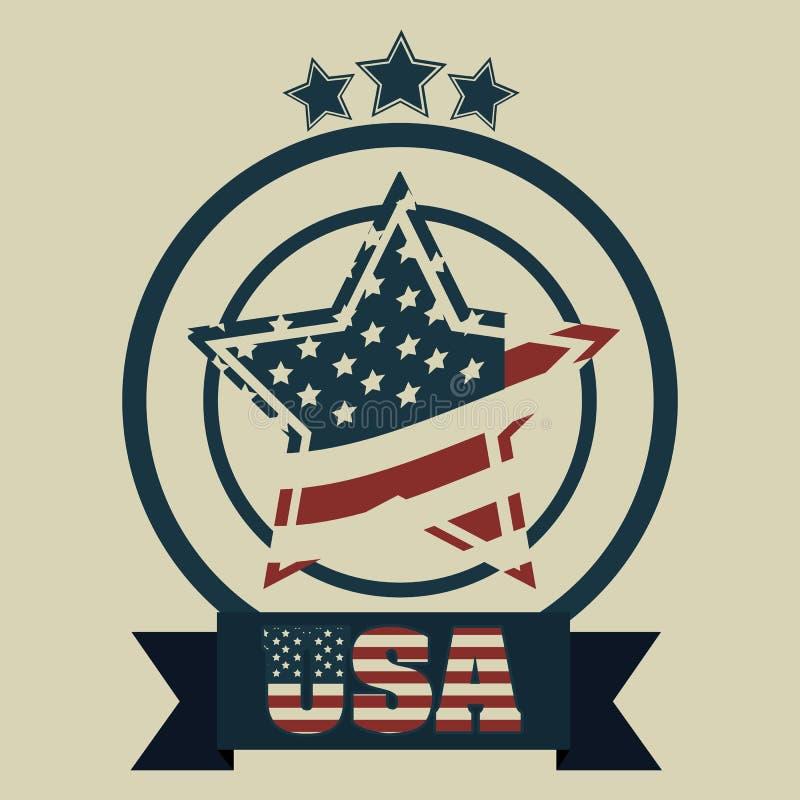 Patriotic background stock illustration