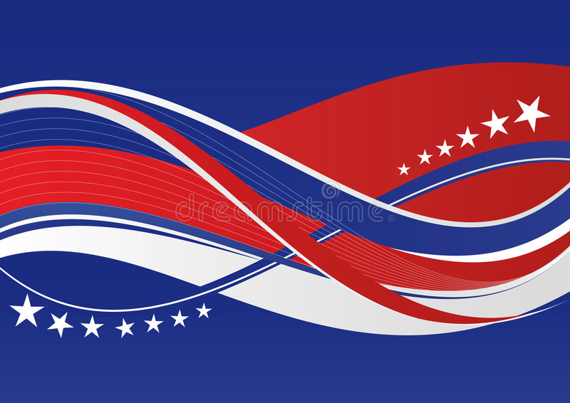 Patriotic background - Stars and stripes stock photos