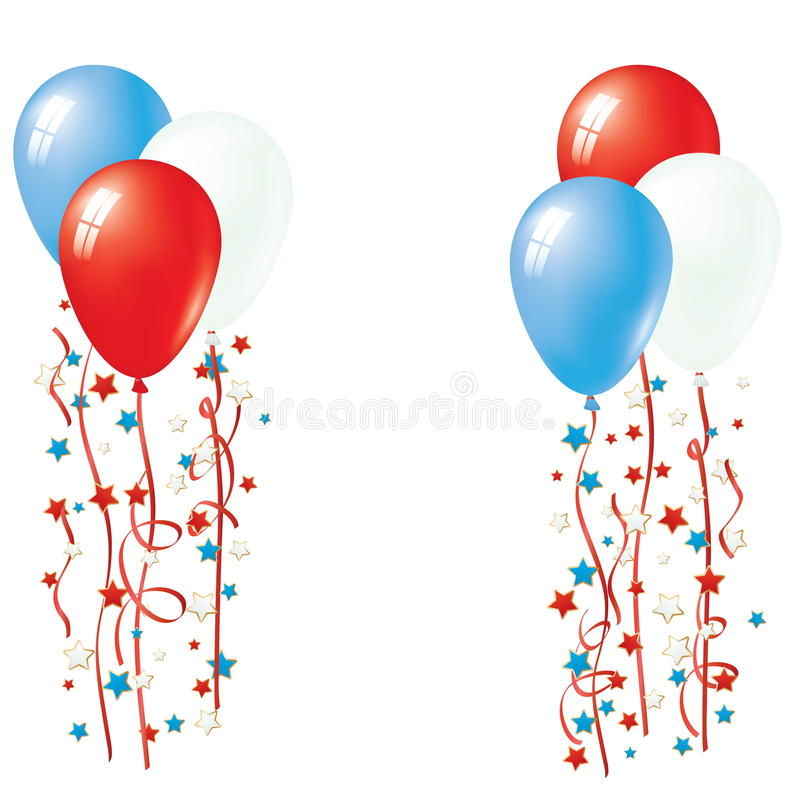Patriotic Balloon Vector royalty free illustration
