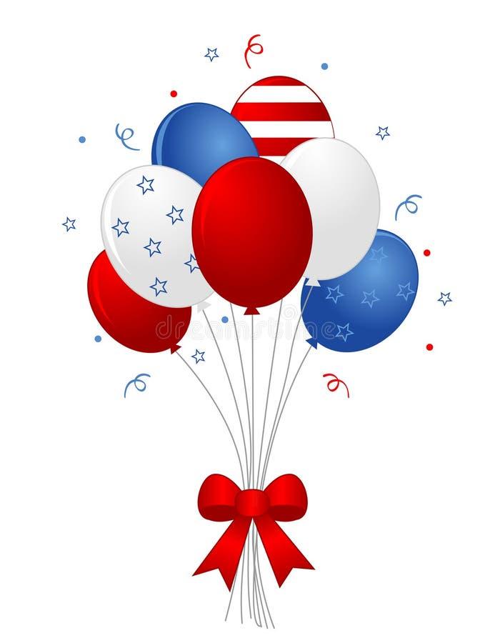 Patriotic balloons royalty free illustration