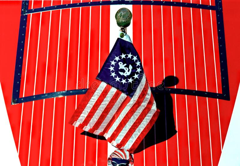 Patriotic Boat Hull Stock Photos