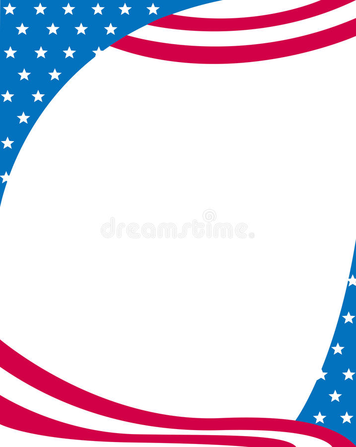 Download Patriotic border stock vector. Illustration of blue, happy - 14417589