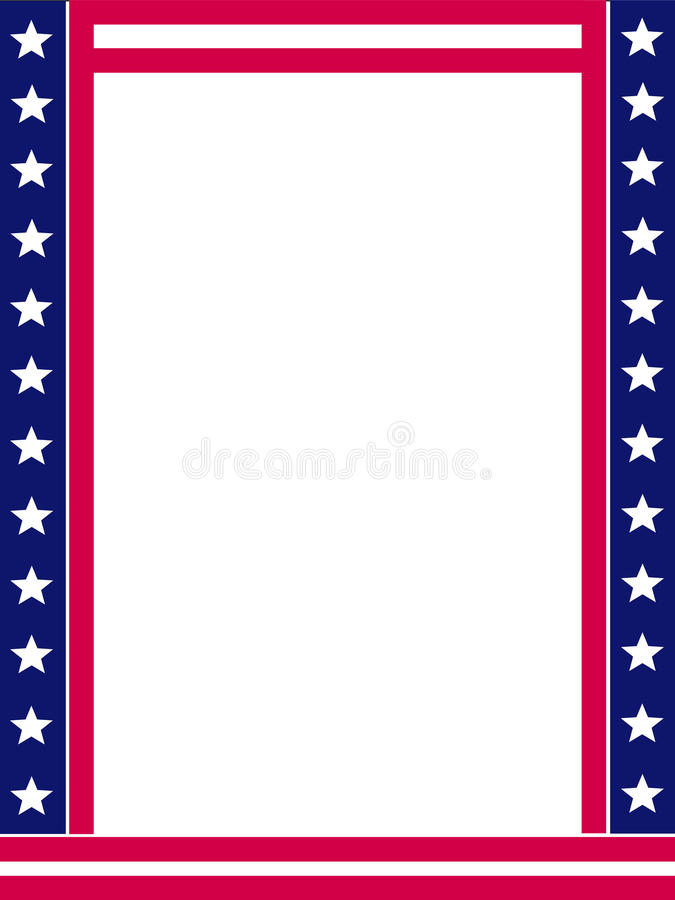 Download Patriotic border stock vector. Image of blue, backgrounds - 14417809