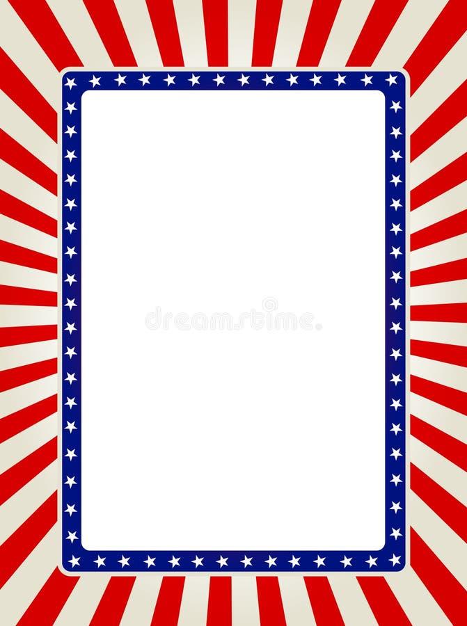 Patriotic border stock illustration