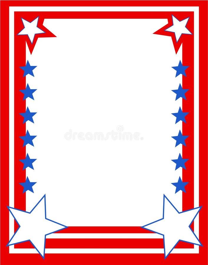 Patriotic Border vector illustration