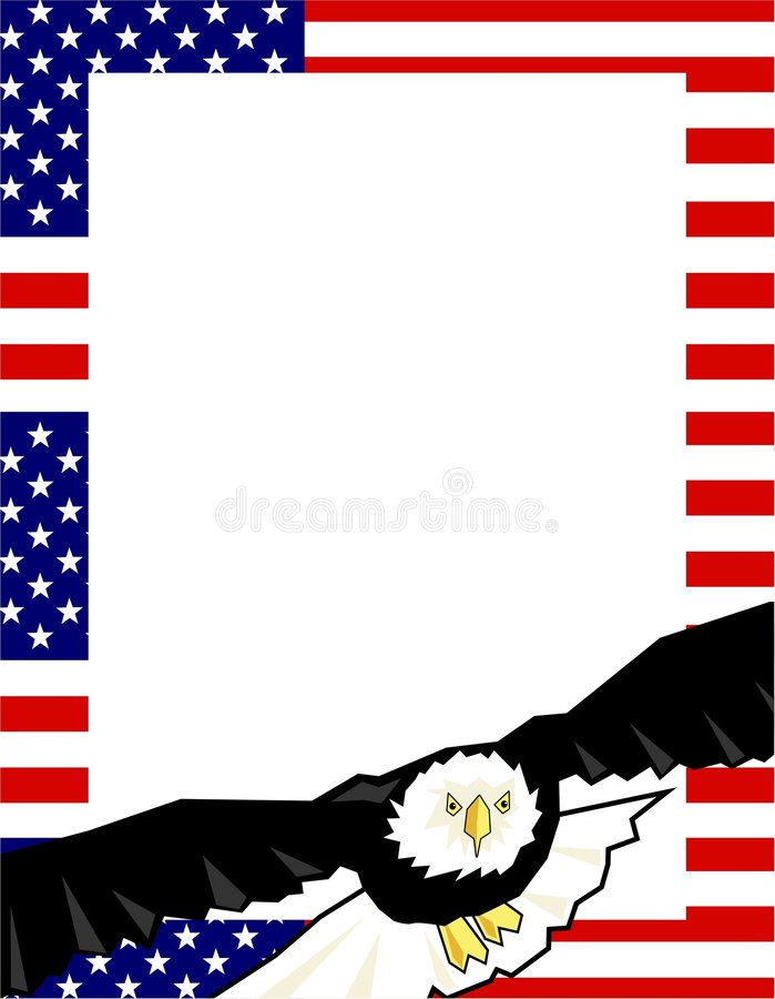 Patriotic Border vector illustration