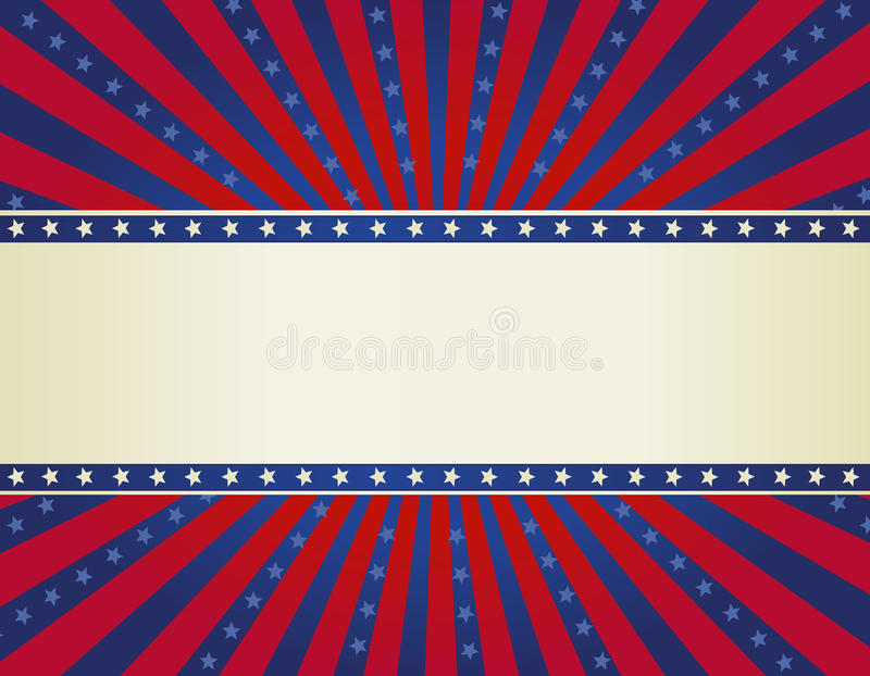 Patriotic border background royalty free illustration