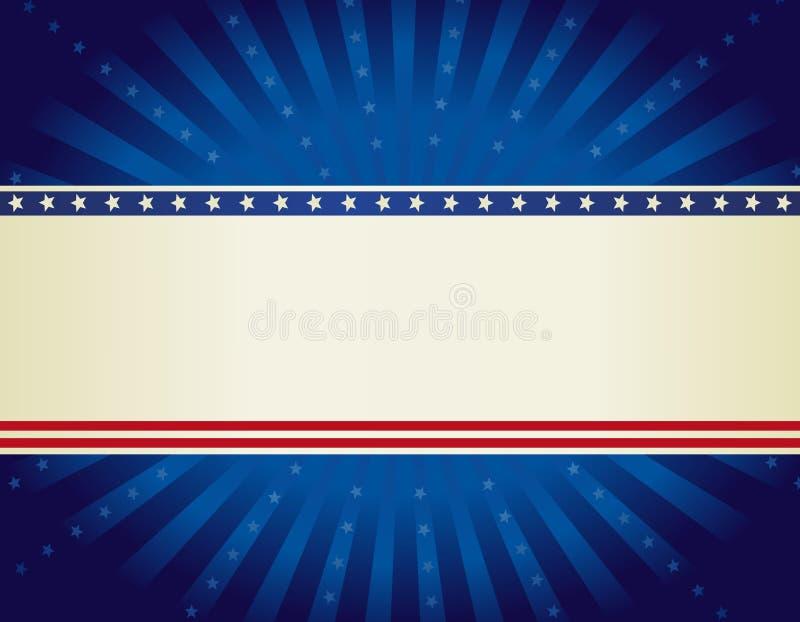 Patriotic border background stock illustration