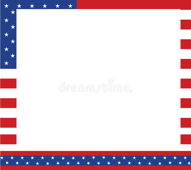 Patriotic border stock illustration