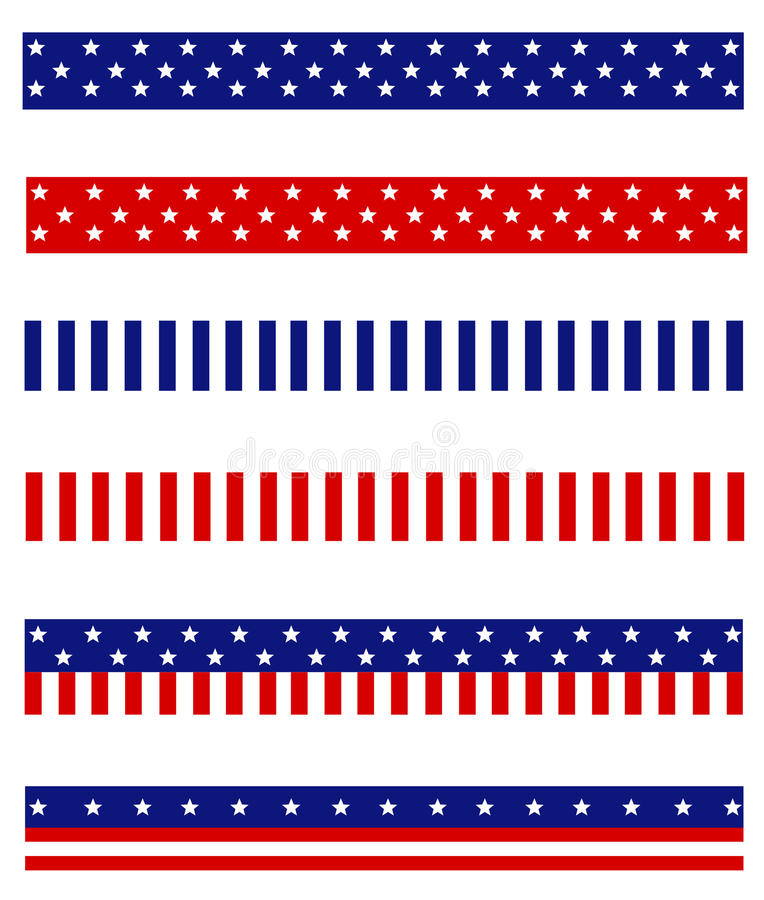 Patriotic border divider vector illustration