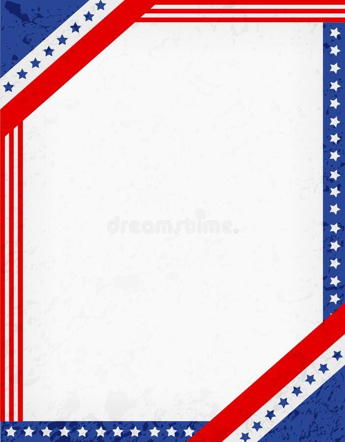 Patriotic Border stock vector. Illustration of border - 41047011