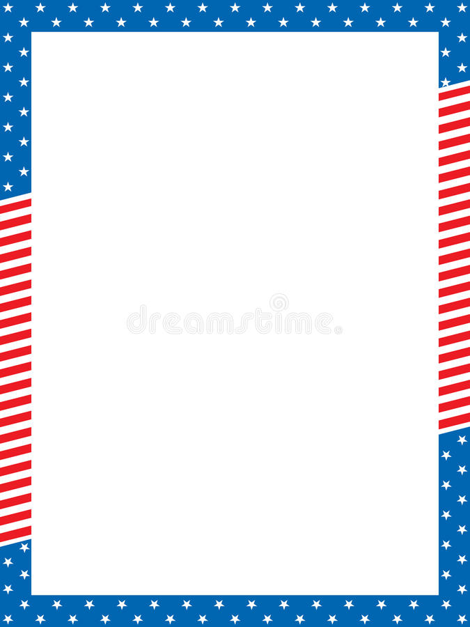Patriotic border. Vector illustration of patriotic border royalty free illustration