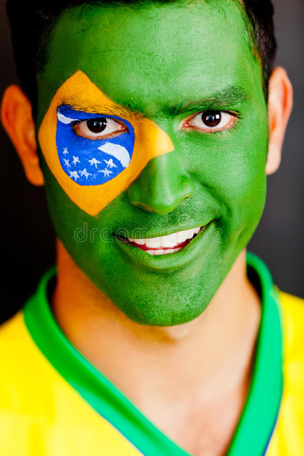 Download Patriotic Brazilian man stock image. Image of male, happiness - 24376799