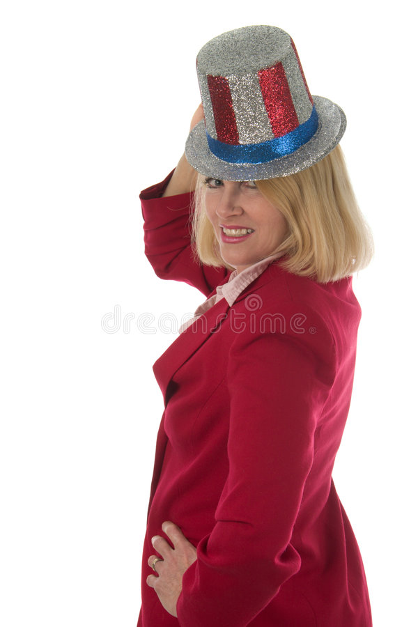 Download Patriotic Business Woman 3 stock image. Image of showy - 1987753
