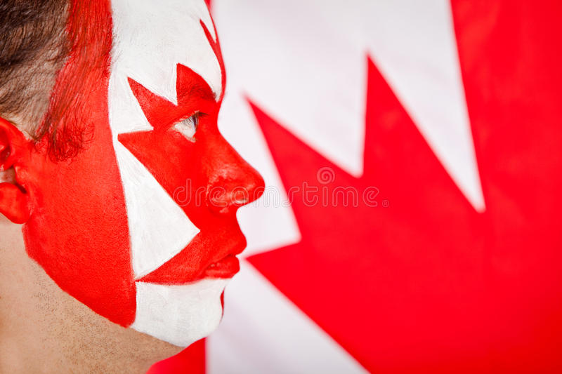 Download Patriotic Canadian man stock photo. Image of face, canadian - 21023418