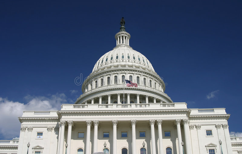 Patriotic Capitol royalty free stock photography