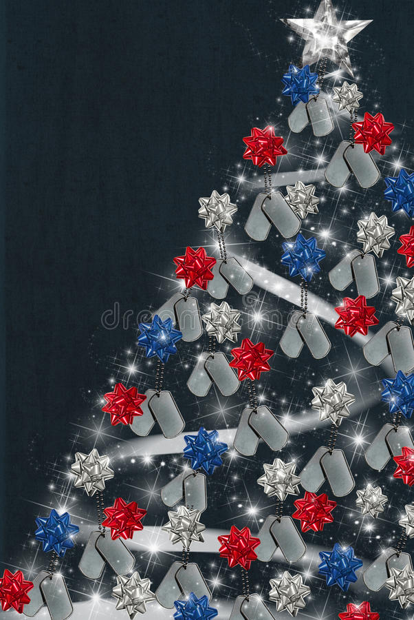 Patriotic Christmas stock illustration