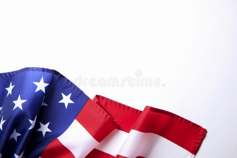 Background flag of the United States of America for national federal holidays celebration and mourning remembrance day. USA symbol royalty free stock photo