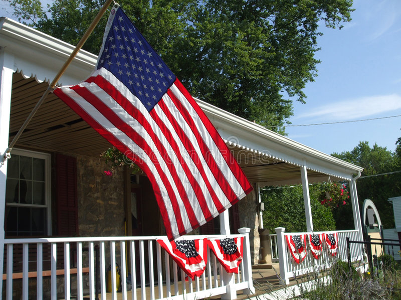 Patriotic Country Home royalty free stock images