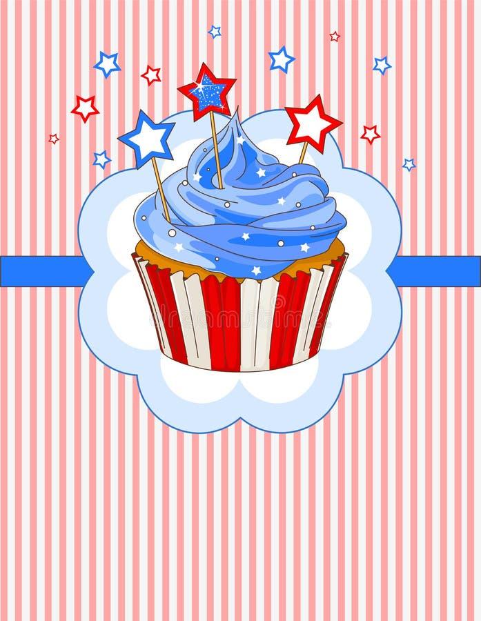 Patriotic cupcake place card stock illustration