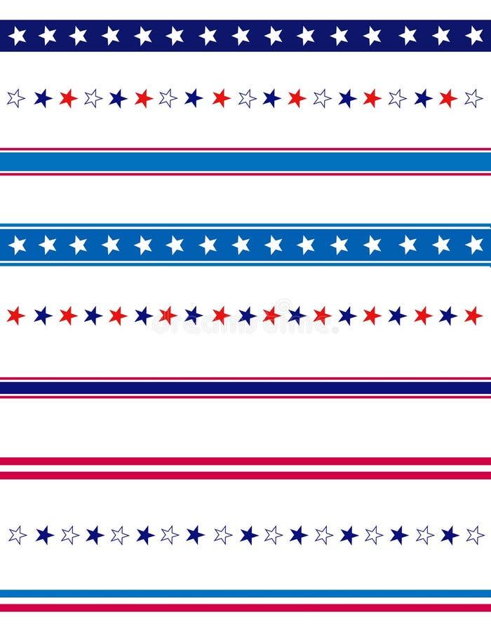 Patriotic divider border royalty free illustration