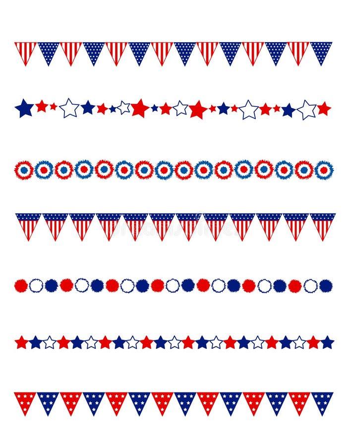 Patriotic divider border royalty free stock image
