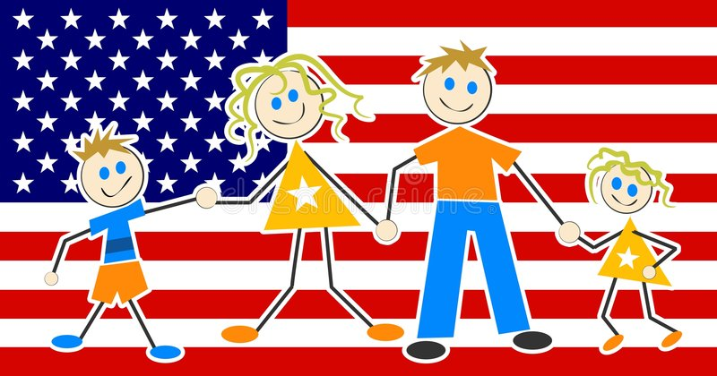 Download Patriotic Family stock vector. Image of american, july, link - 41666