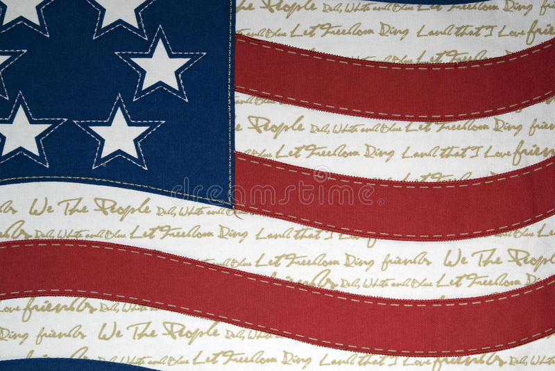 American flag with text stock photos