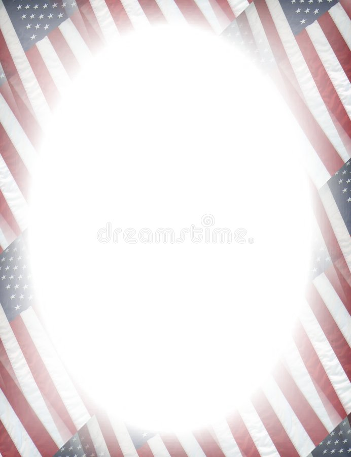 Patriotic frame stock illustration